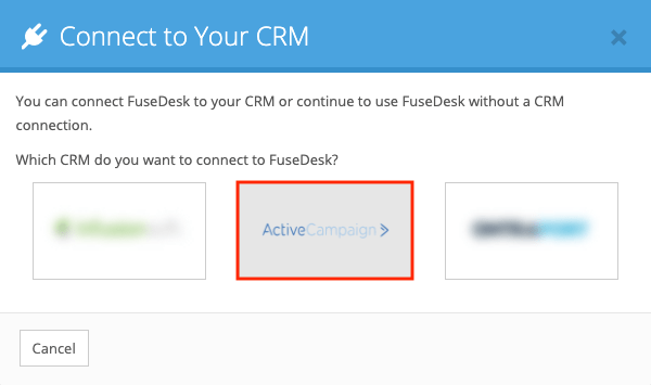 Connecting ActiveCampaign CRM to FuseDesk