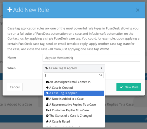 Automation Rule Types in FuseDesk