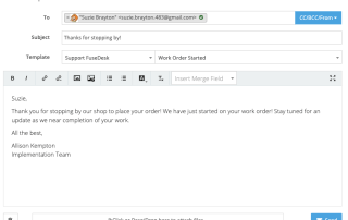 FuseDesk Compose New Email