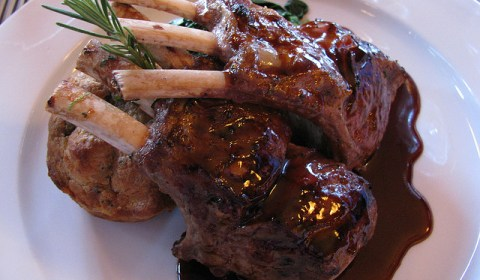 spicy sweet rack of lamb