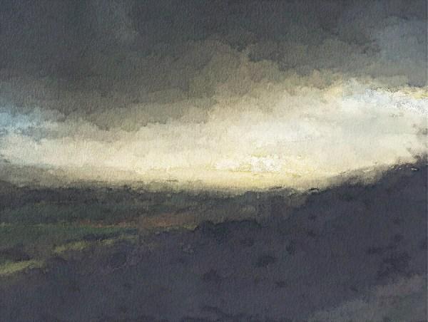 Imagine Paint effect landscape wallpaper mural design