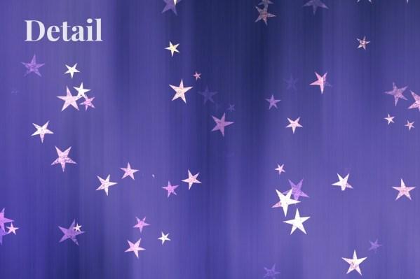 Children's wallpaper detail with stars