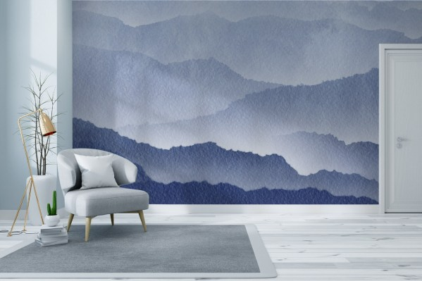 Mountain layers wallpaper mural