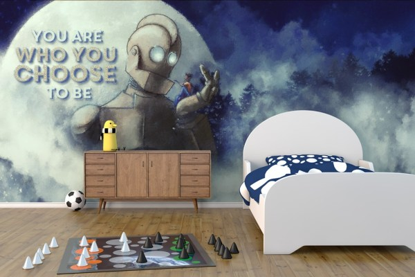 kids room wallpaper iron giant