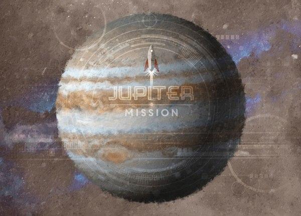 Planet Jupiter Mission Mural Wallpaper