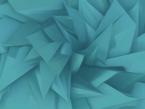 pointy wallpaper design in ocean colours
