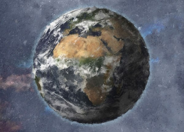 Planet Earth painted artwork