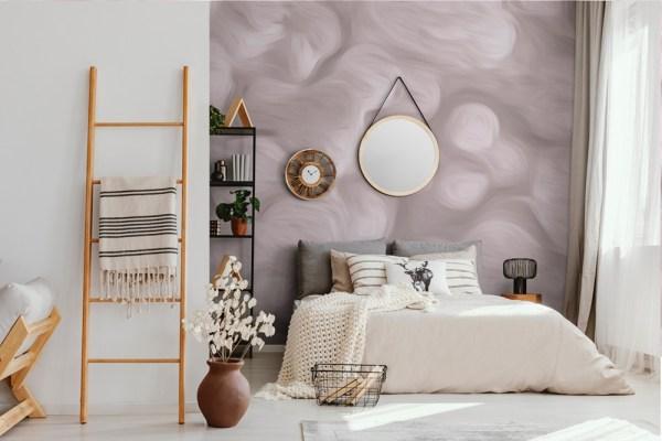 abstract wallpaper mural pink