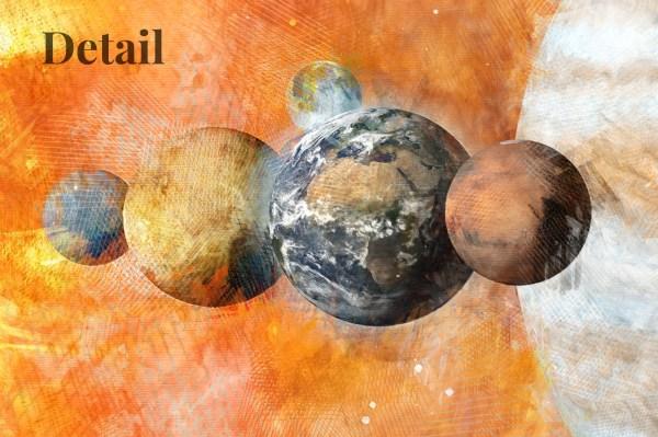 solar system mural design