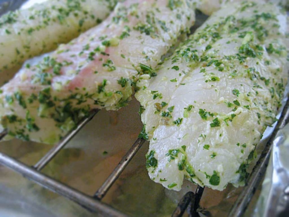 Lemon, parsley, cilantro, peppers and garlic come together in a tangy marinade.