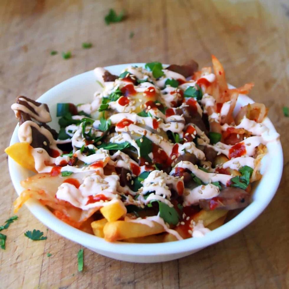 Pork Kimchi Fries