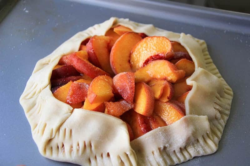 Easy rustic peach galette recipe