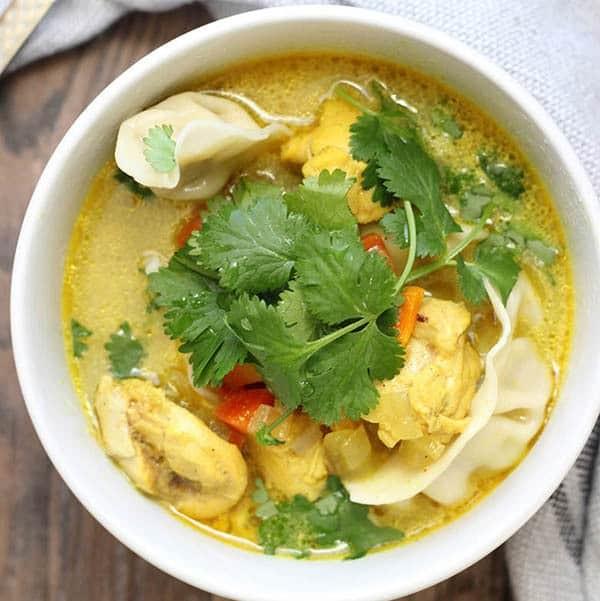 Crockpot Curry Chicken and Dumpling Soup