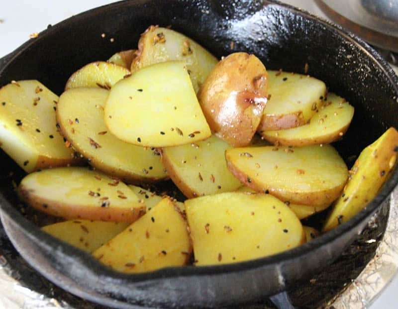 Indian 5 Spice Potatoes