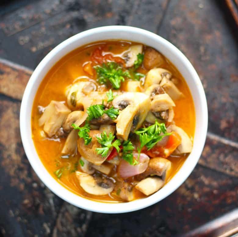 Greek Style Mushrooms | Mushrooms a la Grecque
