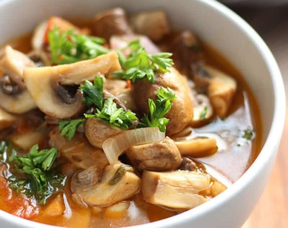 Greek Style Mushrooms | Mushrooms a la Grecque
