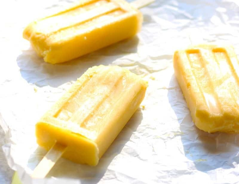Mango Kefir Smart Popsicles. Cool down with these tasty, healthy popsicles on a hot Summers day! Perfect for picnics, 4th of July and everyday special treats!