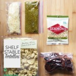 Gourmet Backpacker Tortellini with pesto, pine nuts, sun dried tomatoes and parmesan