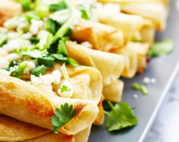 Easy Traditional Mexican Chicken Flautas Recipe