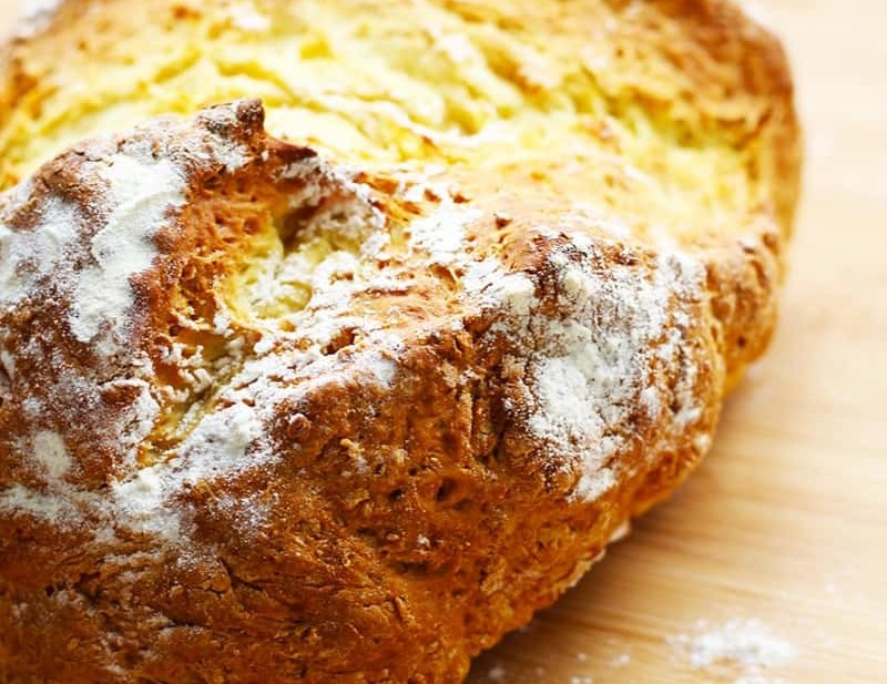 Easy Traditional Irish Soda Bread. A quick, authentic Irish Soda Bread recipe that makes a nice crust and is perfect for toasting. Try this with a hearty Irish Stew.