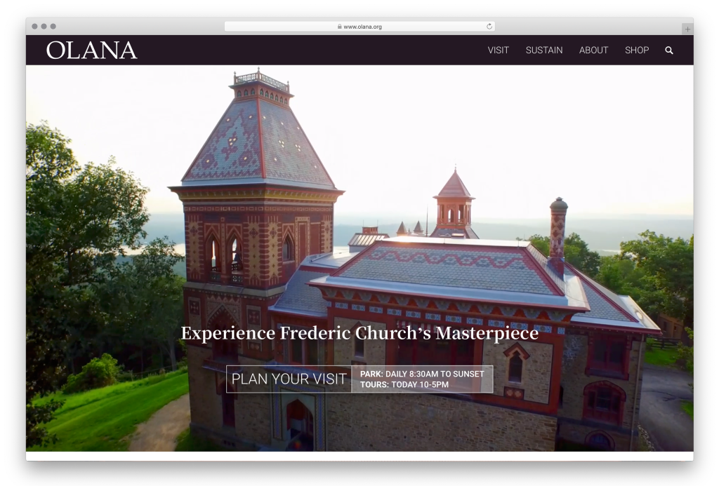 Olana Website - Homepage