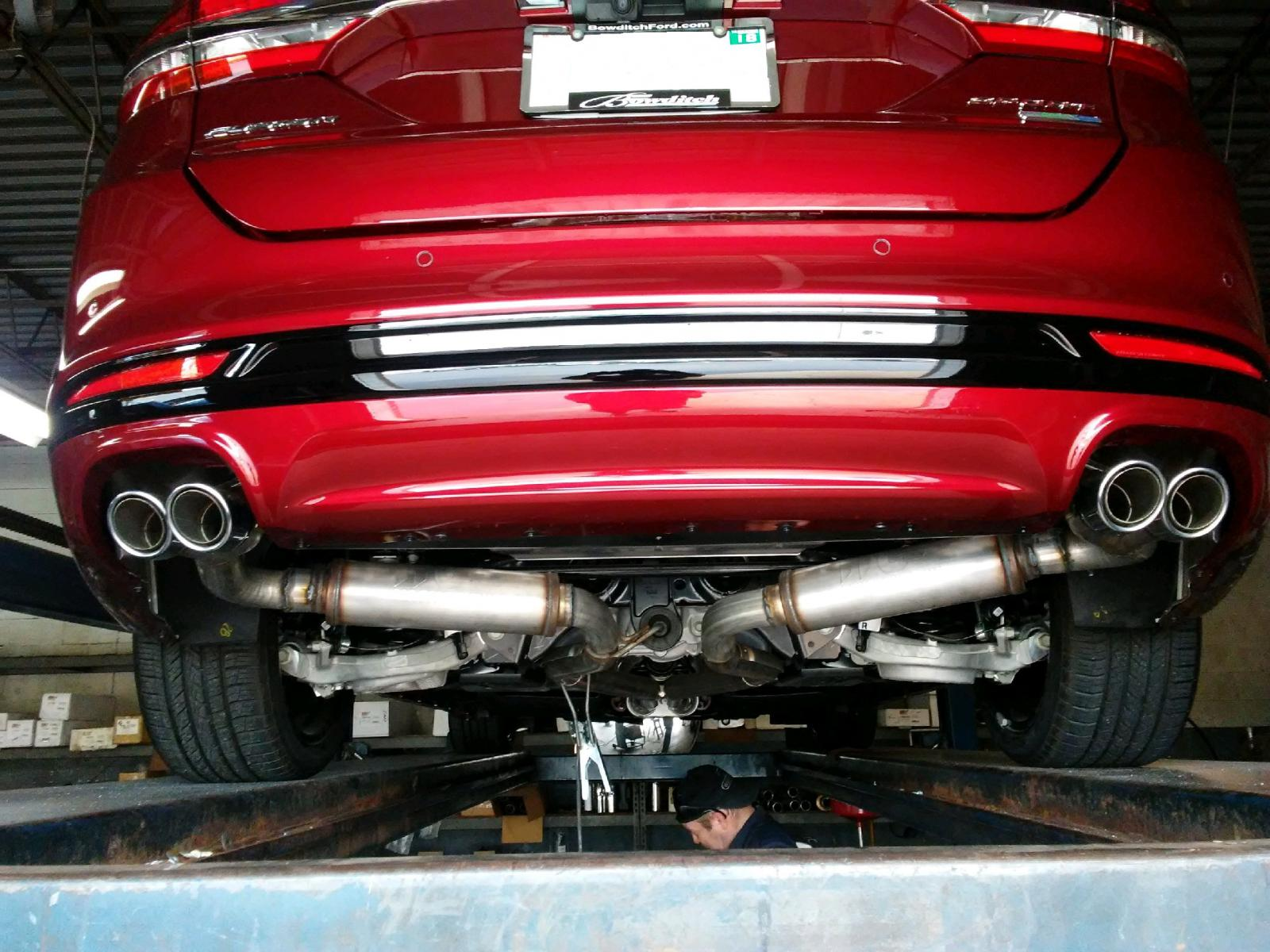 stock muffler removal ford fusion v6