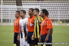 Capitanes y Terna Arbitral del Deportivo Táchira vs Zamora F.C.