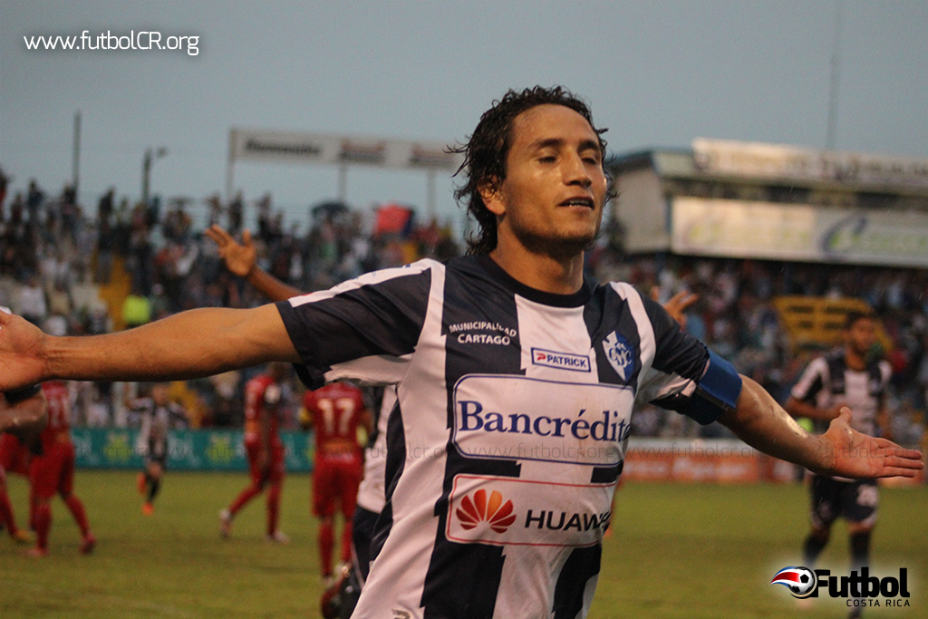 Rándall Brenes celebró su último gol con Cartaginés ante la Liga por el Torneo de Copa.