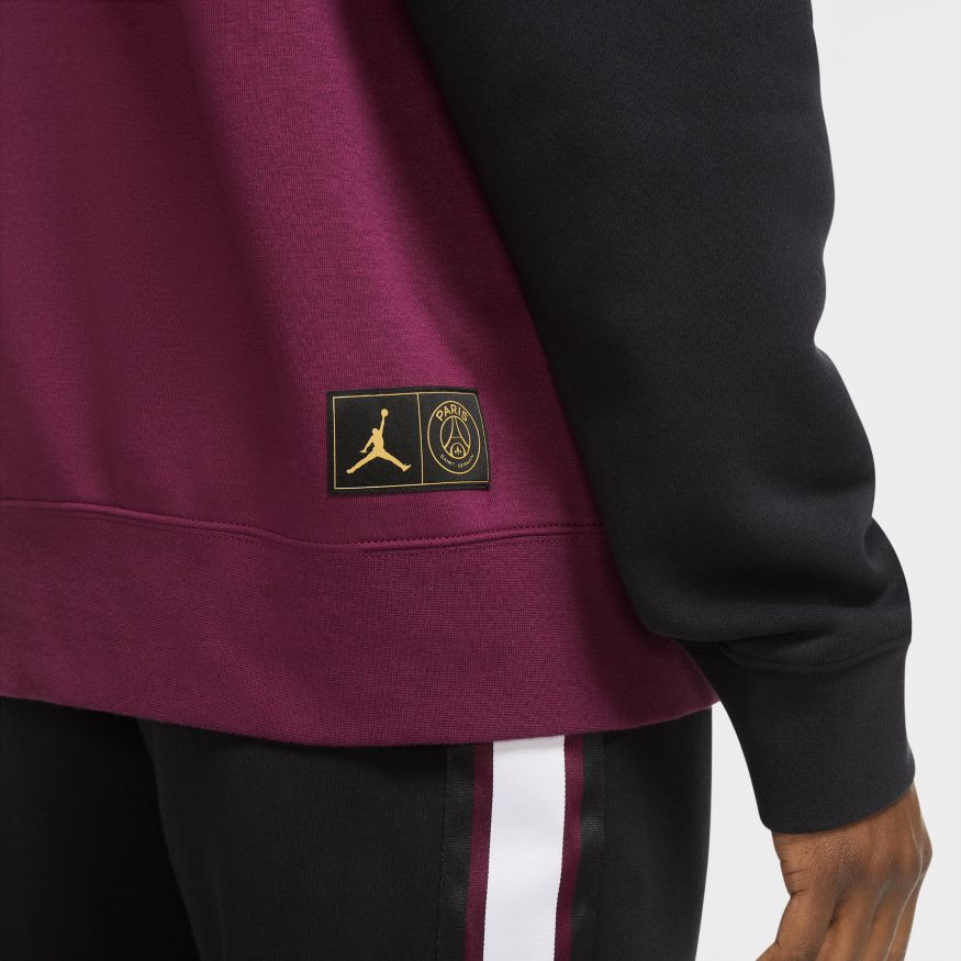 nike jordan x paris saint germain fleece pullover hoodie sweatshirt