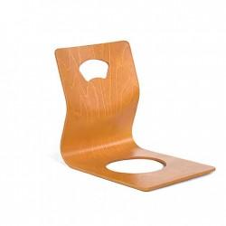 zaisu chaise japonaise sans pieds merisier