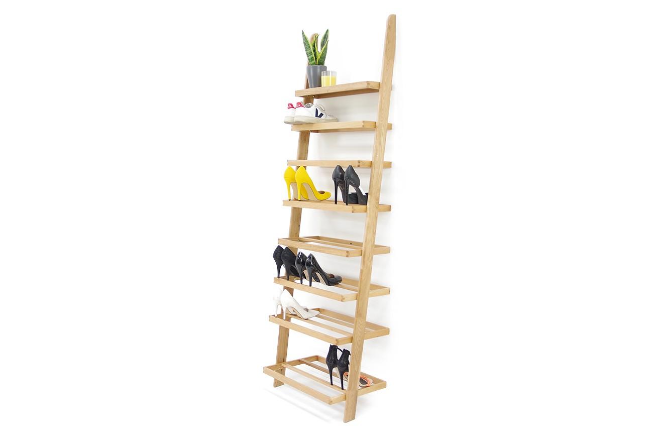 leaning ladder shoe rack