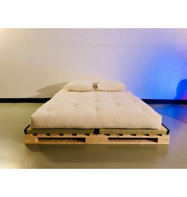 lit palette double 140 ou 160 qualite futon futon 100 coton 15 16 cm dimensions futons 140 x 200 cm