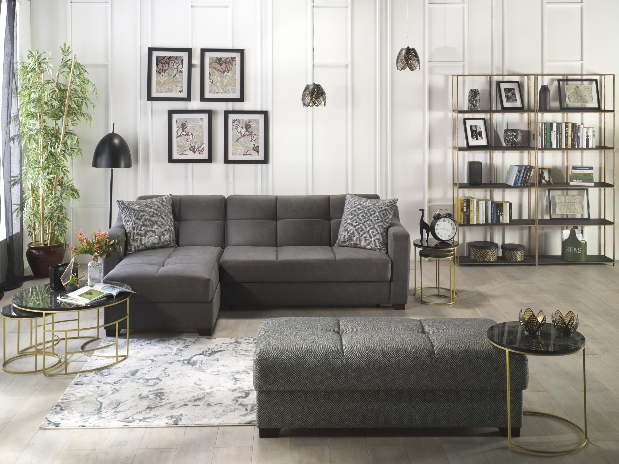 tahoe melson dark gray sectional sofa
