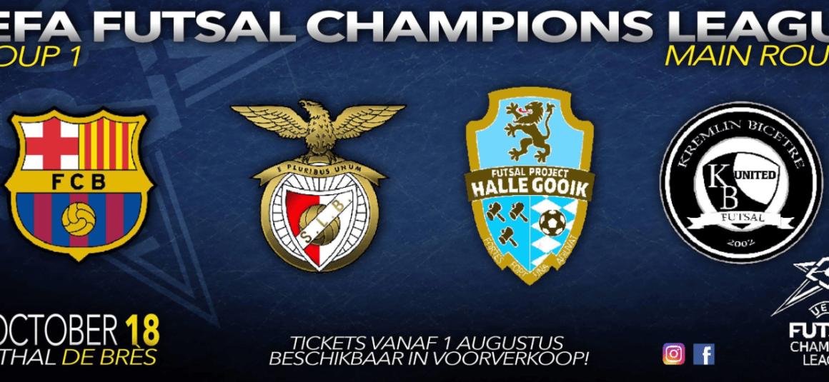 Wat een loting voor FP Halle Gooik in de FUTSAL CHAMPIONS LEAGUE