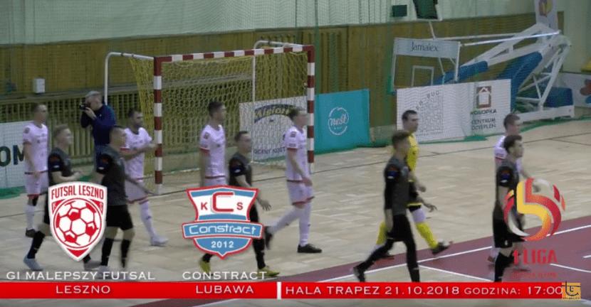 GI Malepszy Futsal Leszno - Constract Lubawa (skrót meczu) - YouTube