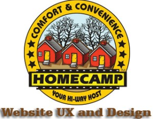 HOMECAMP website design consulting