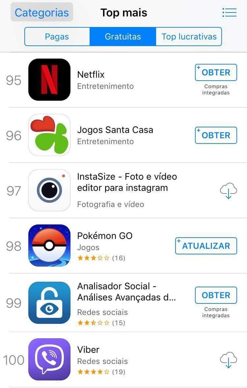 Netflix iOS - Top aplicações gratuitas