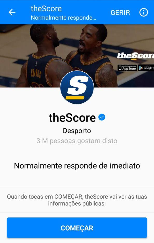 Bots Facebook Messenger | theScore