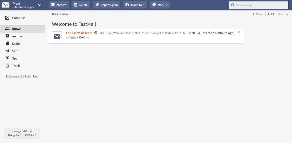 Serviços de email | Fastmail