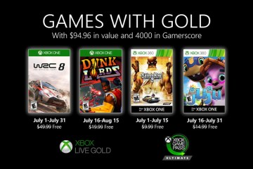 Games with Gold Julho