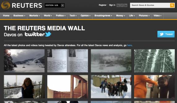 Reuters-Media-Wall-Davos 2012