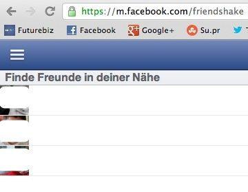 Facebook Freunde in deiner Nähe - Friendshake