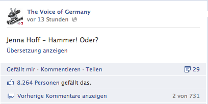The Voice of Germany - Facebook