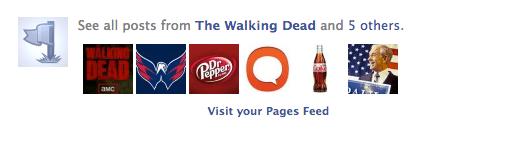 Facebook Seiten-Feed - Newsfeed Meldung