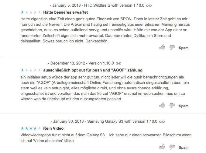 Google Play Bewertungen Spiegel Online