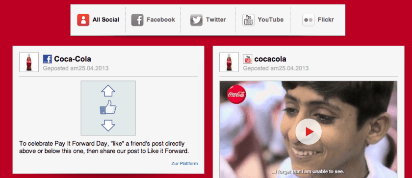 Coca Cola Journey - Social Feed