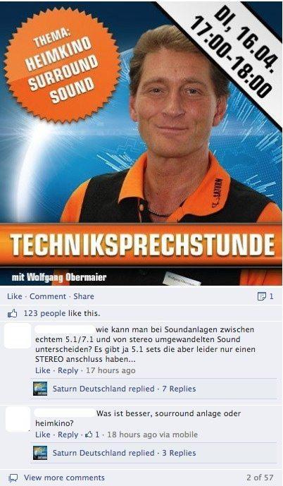 Einsatzfelder  - Facebook Kommentarthreads