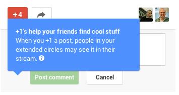 Google+ Stream mit +1 Aktivitäten