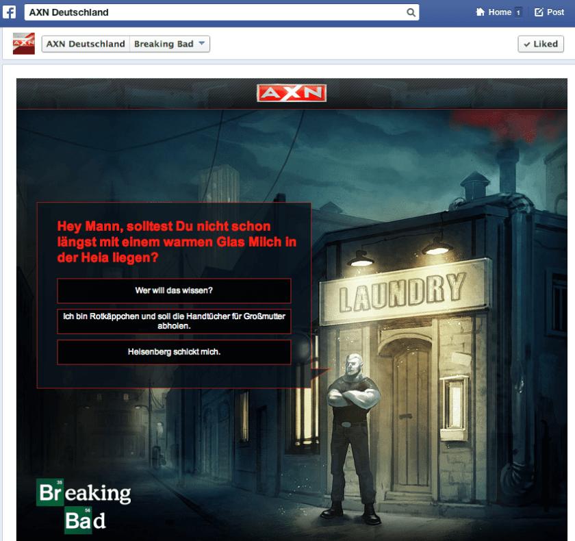 Facebook Kampagnen - AXN Deutschland Breaking Bad