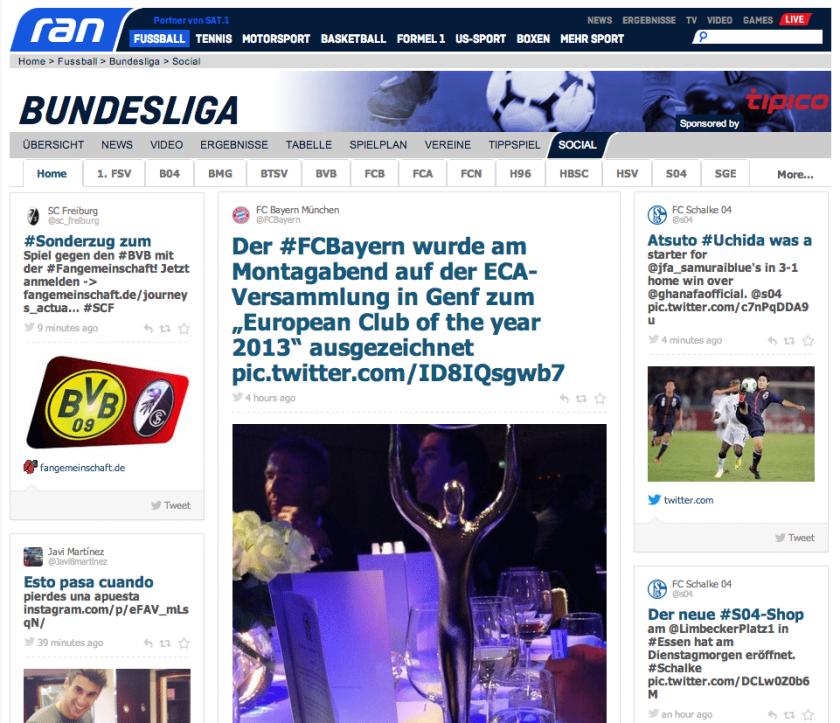 Social Hub ran Bundesliga